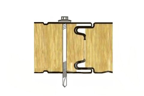 Стеновая ТСП с открытым креплением-Z LOCK 50 мм.