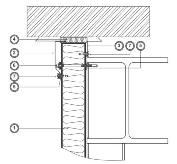 Примыкание фасада к стене (Ф5)