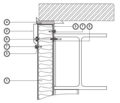 Примыкание фасада к стене (Ф6)